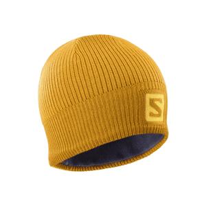 Salomon LOGO BEANIE CITRU žlutá UNI - Zimní čepice