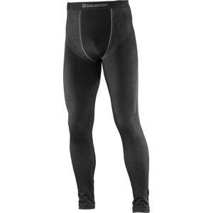 Salomon PRIMO WARM TIGHT M černá L - Pánské termo kalhoty