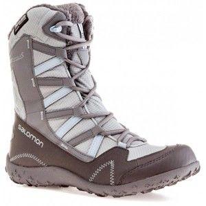 Salomon SNOWBUNT TS CSWP LIGHT šedá 4.5 - Dámská zimní obuv