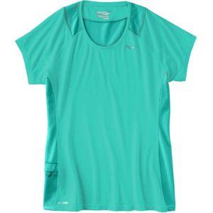 Saucony FREEDOM SHORT SLEEVE zelená S - Dámské běžecké triko