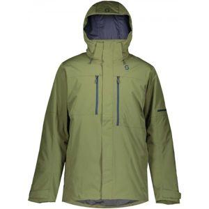 Scott ULTIMATE DRYO 10 JACKET tmavě zelená XL - Pánská lyžařská bunda