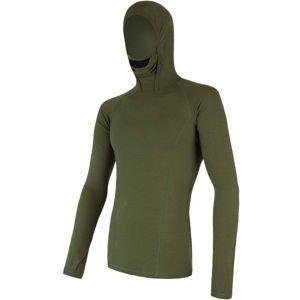 Sensor MERINO DF zelená M - Pánské funkční triko