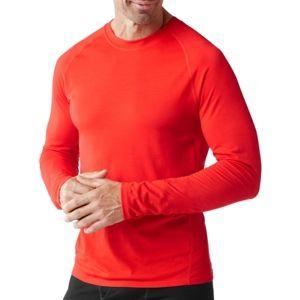 Smartwool MERINO 150 BASELAYER LS M červená XL - Pánské tričko