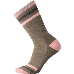 Smartwool STRIPED HIKE LIGHT CREW W - Dámské turistické ponožky