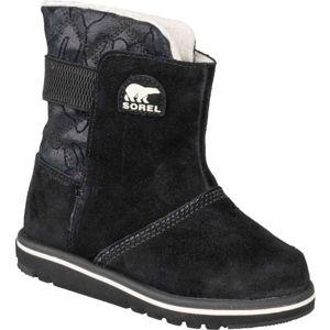 Sorel YOUTH RYLEE  CAMO černá 9 - Dětské zimní boty