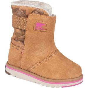 Sorel YOUTH RYLEE  CAMO hnědá 11 - Dětské zimní boty