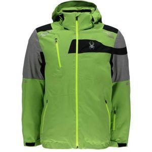 Spyder TITAN zelená XXL - Pánská lyžařská bunda