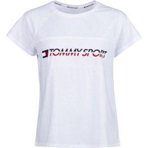 Tommy Hilfiger BLOCKED TEE LOGO bílá XS - Dámské tričko