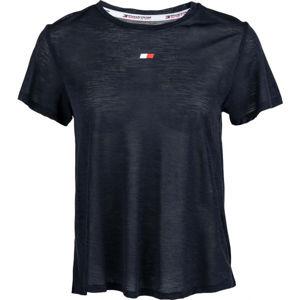 Tommy Hilfiger PERFORMANCE LBR TOP tmavě modrá M - Dámské tričko