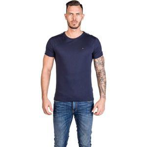 Tommy Hilfiger RN TEE SS tmavě modrá L - Pánské tričko