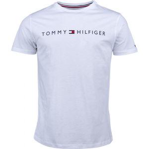 Tommy Hilfiger CN SS TEE LOGO bílá XL - Pánské tričko