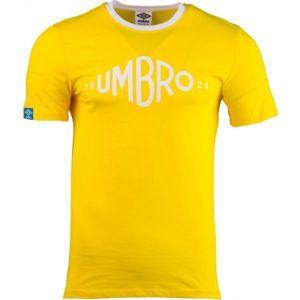 Umbro GRAPHIC TEE žlutá XL - Pánské tričko