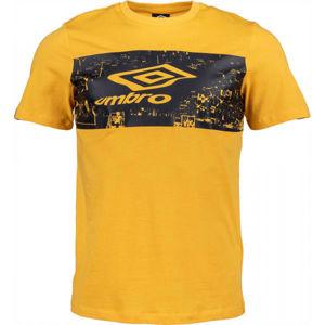 Umbro FANS TEE žlutá XL - Pánské triko