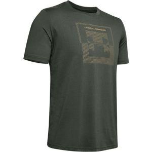 Under Armour INVERSE BOX LOGO zelená M - Pánské tričko
