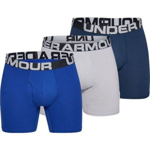 Under Armour CHARGED COTTON 6IN 3 PACK modrá XL - Pánské boxerky