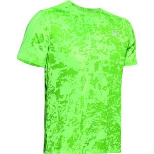 Under Armour SPEED STRIDE PRINTED SS zelená M - Pánské běžecké tričko