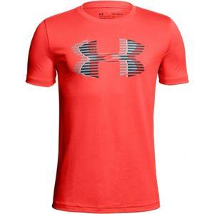 Under Armour TECH BIG LOGO SOLID TEE oranžová M - Dětské triko