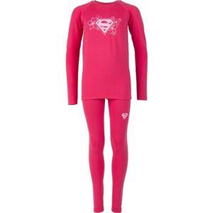 Warner Bros KIDS THERMO SET růžová 152-158 - Dětské funkční termoprádlo