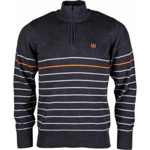 Willard KIAN tmavě šedá XL - Pánský pletený svetr